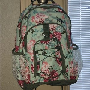 Pottery barn floral backpack